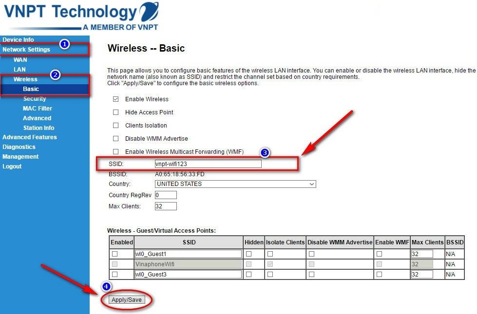 thiết lập modem wifi nhà mạng vnpt