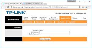 Cách đổi pass wifi TP link